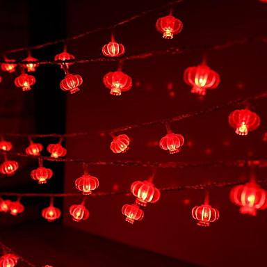 3m 20 לדים פנס מחרוזת אורות אדום צד חג דקורטיבי 5 v 1 סט