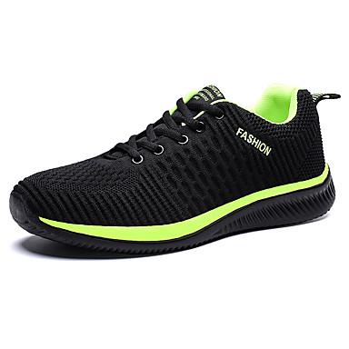בגדי ריקוד גברים נעלי נוחות רשת אביב קיץ / סתיו חורף ספורטיבי / יום יומי נעלי אתלטיקה ריצה / הליכה נושם שחור / שחור אדום / שחור / ירוק
