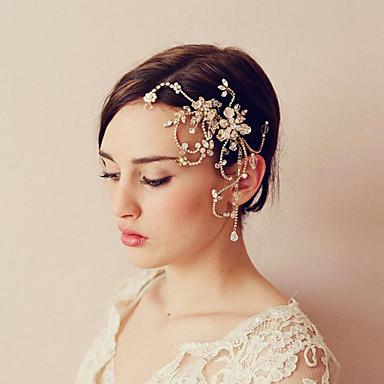 סגסוגת מסרקים עם קריסטל / מתכת יחידה 1 חתונה / אירוע מיוחד כיסוי ראש