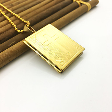 voordelige Herensieraden-Heren Dames Hangertjes ketting Roestvast staal Goud 65 cm Kettingen Sieraden 1pc Voor Dagelijks Straat Festival
