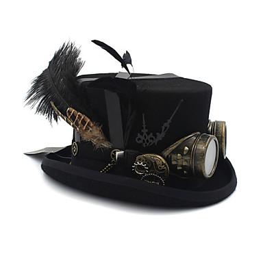 עור / 100% צמר / סגסוגת ביגוד לראש עם נוצות / כובע / מתכת חלק 1 לבוש יומיומי / בָּחוּץ כיסוי ראש