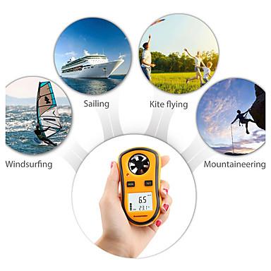 voordelige Test-, meet- & inspectieapparatuur-Rz gm8908 draagbare anemometer anemometro thermometer wind speed gauge meter windmeter 30 m / s lcd digitale handbediende meetinstrument