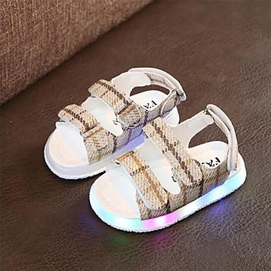 voordelige Babyschoenentjes-Meisjes Oplichtende schoenen PU Sandalen Kinderen / Peuter Zwart / Geel / Roze Zomer / Rubber