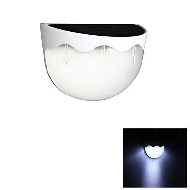billige Utendørsbelysning-1pc 1 W Solar Wall Light Vanntett / Solar / Dekorativ Varm hvit / Kjølig hvit 1.2 V Utendørsbelysning / Svømmebasseng / Courtyard 6 LED perler