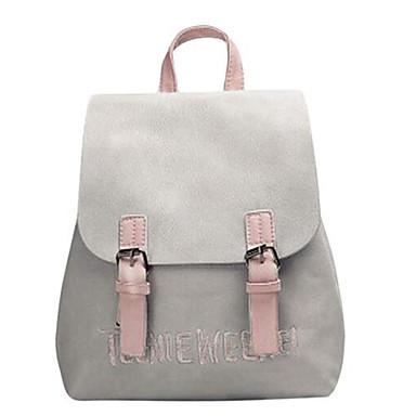 preiswerte Taschen-Damen Taschen PU Rucksack Gestuft Schwarz / Rosa / Grau