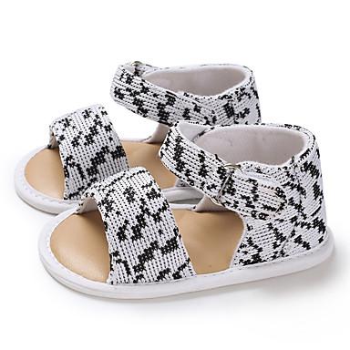 baratos Sapatos de Criança-Para Meninas Tricô Sandálias Crianças (0-9m) / Criança (9m-4ys) Primeiros Passos Branco / Vinho Verão