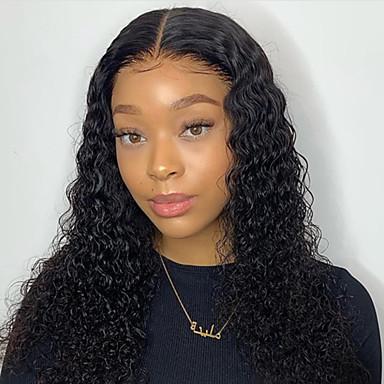 שיער אנושי חזית תחרה פאה תספורת בוב בוב קצר חלק צד בסגנון שיער ברזיאלי מתולתל שחור פאה 130% צפיפות שיער עם שיער בייבי שיער טבעי לנשים שחורות בתולה100% 100% קשירה ידנית בגדי ריקוד נשים קצר אורך בינוני