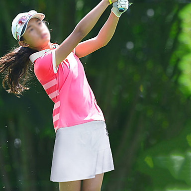 בנות חולצת POLO שרוולים קצרים גולף ריצה להתאמן בגדי ספורט ומנוחה בָּחוּץ סתיו אביב קיץ / מיקרו-אלסטי / ייבוש מהיר / פתילת לחות / נושם