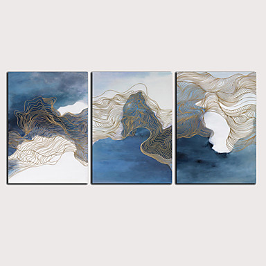דפוס הדפסי בד מגולגל - מופשט קלסי מודרני שלושה פנלים הדפסים אמנותיים
