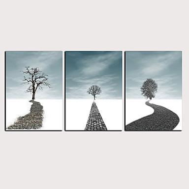 דפוס הדפסי בד מגולגל - מופשט L ו-scape קלסי מודרני שלושה פנלים הדפסים אמנותיים
