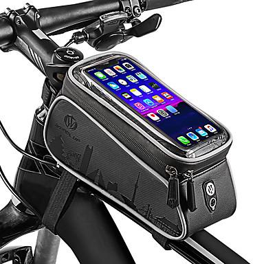 billige Sykkelvesker-Wheel up Mobilveske 6 tommers Sykling til Sykling Andre Tilsvarende Størrelse Telefoner Mørkegrå Fjellsykkel Vei Sykkel Utendørs Trening