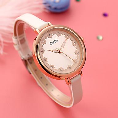 baratos Relógios Senhora-Mulheres relógio mecânico Quartzo Impermeável Analógico Fashion - Branco Vermelho / Aço Inoxidável