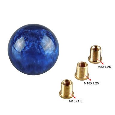 voordelige Auto-interieur accessoires-unieke ronde opklapknop in marmerstijl met 3 adapters voor de meeste auto's voor universele modificatie van auto's