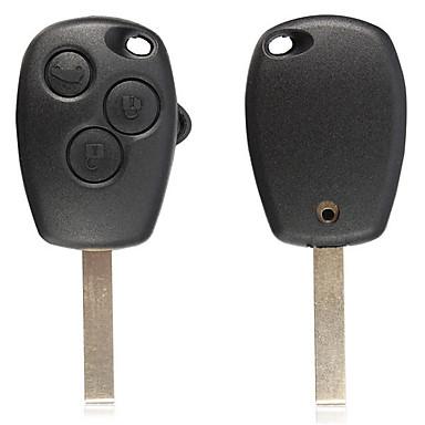 voordelige Auto-interieur accessoires-afstandsbediening sleutel 3 knoppen fob leeg mes voor renault modus kangoo master