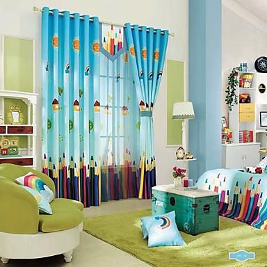 פרטיות שני פנאלים וִילוֹן חדר ילדים   Curtains