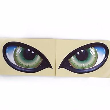 2pcs סטריאו 3D רעיוני חתול עיניים העיניים מדבקה מדבקה מראה מראה