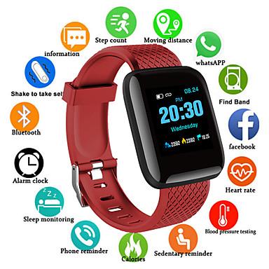 povoljno Elektronička oprema-D13S Muškarci Smart Satovi Android iOS Bluetooth Vodootporno Ekran na dodir Heart Rate Monitor Mjerenje krvnog tlaka Sportske Brojač koraka Podsjetnik za pozive Mjerač aktivnosti Mjerač sna Pronađi