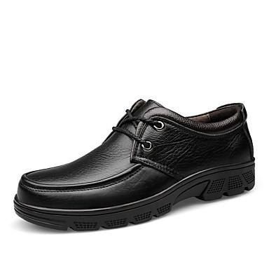 בגדי ריקוד גברים נעליים פורמליות עור אביב קיץ עסקים / יום יומי נעלי אוקספורד הליכה ללא החלקה שחור / חום / מסיבה וערב