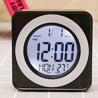 שעון שעון מודרני מודרני עכשווי פלסטיק מרובע