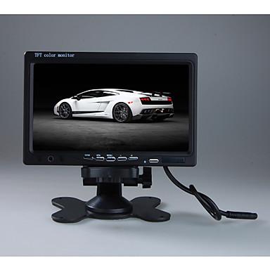 7 tft lcd צבע 2 וידאו קלט המכונית האחורית headrest צג dvd vcr לפקח עם מרחוק לעמוד& תמיכה לסובב את המסך