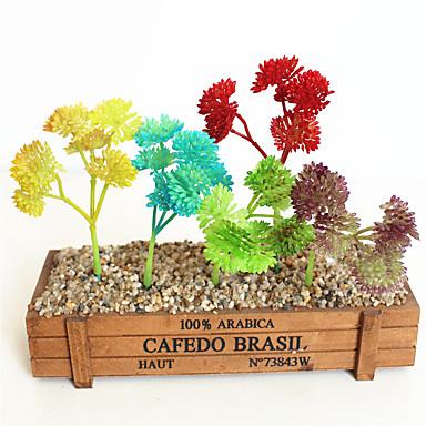 פרחים מלאכותיים 1 ענף קלאסי מודרני פסטורלי סגנון פרחים נצחיים צמחים עסיסיים פרחים לשולחן