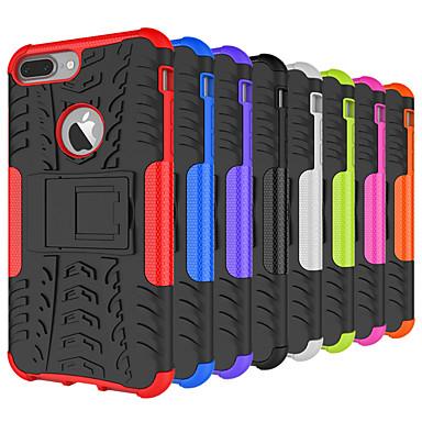 billige iPhone-etuier-Etui Til Apple iPhone XS / iPhone XR / iPhone XS Max Stødsikker / Med stativ Bagcover Geometrisk mønster Hårdt Silikone / PC