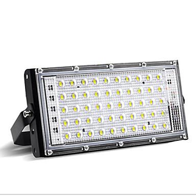 billige Utendørsbelysning-1pc 50 W LED-lyskastere Vanntett Varm hvit / Hvit 220 V Utendørsbelysning / Courtyard / Have 50 LED perler
