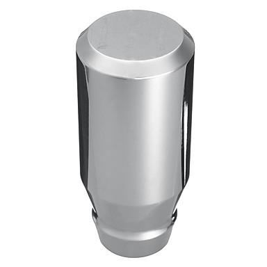voordelige Auto-interieur accessoires-universele auto auto 5-versnellings schakelbak aluminium pookknop chroom gepolijst