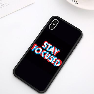 hesapli iPhone Kılıfları-iphone xs max xr xs x case arka yumuşak kapak tpu şık basit stil yaratıcı metin desen yumuşak tpu iphone 8 için artı 7 artı 7 6 artı 6 8