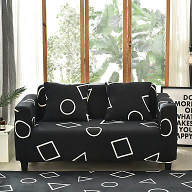 billige Møbelbetræk-sofa dækning høj stræk geometri kombinatorisk blød elastisk polyester slipcovers