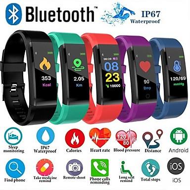 Недорогие Умные браслеты-ID115 плюс цветной экран умный браслет спортивные часы шагомер фитнес бега ходьба трекер шагомер пульса умный браслет