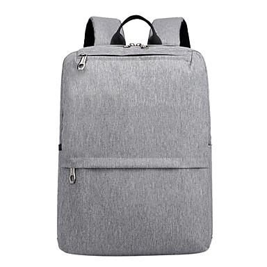preiswerte Taschen-Herrn Taschen Nylon Rucksack Reißverschluss Volltonfarbe Schwarz / Grau