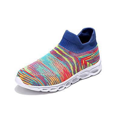 בנים / בנות נוחות סריגה נעלי ספורט ילדים שחור / כחול / שחור אדום אביב / קיץ