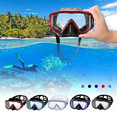 מסכת שנורקל מתחת למים שני-חלון - שנרקול סיליקון - עבור מבוגרים שחור