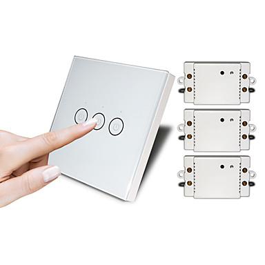 povoljno Smart prekidač-dodirni bežični daljinski upravljač prekidač ne treba prebaciti žičani prekidač ožičenje bez paste inteligentni dom prekidač rasvjete prekidač tri dodir zid prekidači