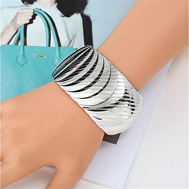 abordables Bracelet-Bracelet Homme Femme Tressé Rire Content Décontracté / Sport Mode Bracelet Bijoux Dorée Argent Arc-en-ciel Forme C pour Cadeau Quotidien