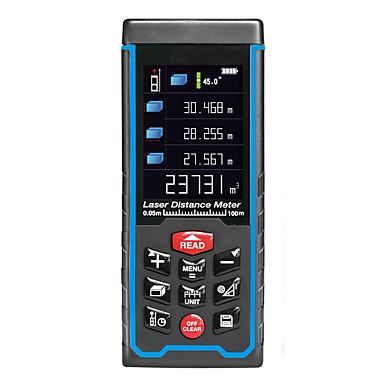voordelige Test-, meet- & inspectieapparatuur-100 m draagbare handheld digitale laser afstandsmeter kleurenscherm afstandsmeter diastimeter gebied volume meting afstandsmeter rz-as100