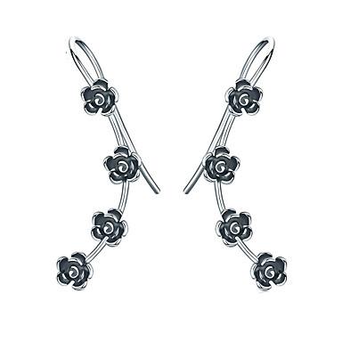 billige Moteøreringer-Dame Øre Cuffs S925 Sterling Sølv øredobber Smykker Sølv Til Daglig Festival 1 par