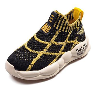 baratos Sapatos de Criança-Para Meninos Sintéticos Tênis Little Kids (4-7 anos) / Big Kids (7 anos +) Conforto Preto / Amarelo / Vermelho Primavera / Outono