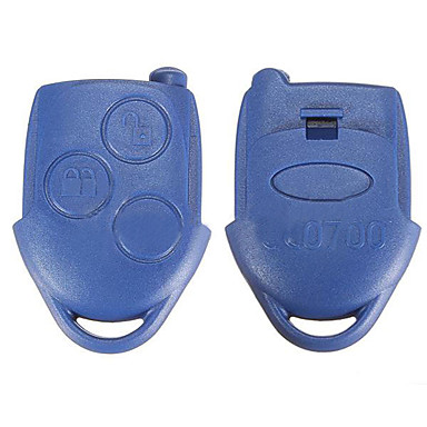 voordelige Auto-interieur accessoires-3 knoppen afstandsbediening bule sleutelhanger geval shell cover voor ford