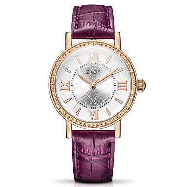 baratos Relógios Senhora-Mulheres relógio mecânico Quartzo Impermeável Analógico Casual - Branco Roxo Vermelho