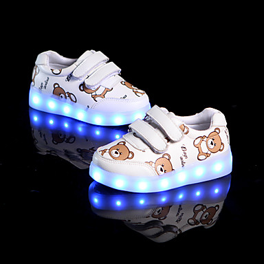 baratos Sapatos de Criança-Para Meninas Couro Ecológico Tênis Little Kids (4-7 anos) Conforto Branco / Preto / Verde Outono