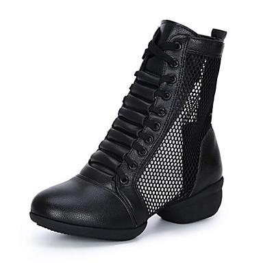billige Dance Boots-Dame Dansesko Fuskelær Dansestøvler Joggesko Tykk hæl Kan spesialtilpasses Hvit / Svart / Rød / Ytelse / Trening