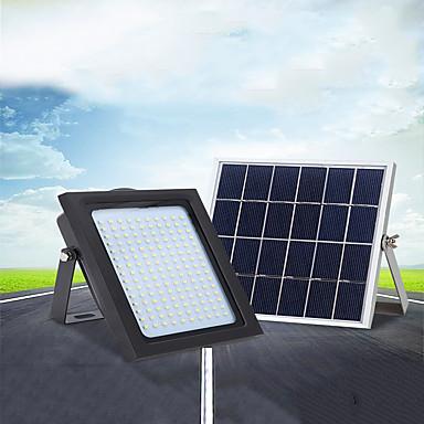 billige Utendørsbelysning-1pc 18 W LED-lyskastere / Utendørs Vegglamper / Solar Wall Light Vanntett / Solar / Lysstyring Hvit 5.5 V Utendørsbelysning / Svømmebasseng / Courtyard 150 LED perler