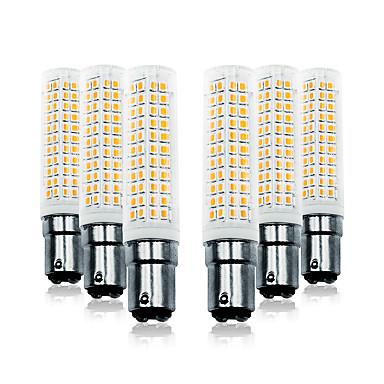 abordables Ampoules électriques-LOENDE 6pcs 11 W Ampoules Maïs LED 750 lm BA15D T 136 Perles LED SMD 2835 Blanc Chaud Blanc 110-130 V 200-240 V