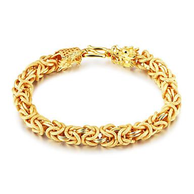 voordelige Herensieraden-Heren Armbanden met ketting en sluiting Gelukkig Modieus Verguld Armband sieraden Goud Voor Lahja Dagelijks