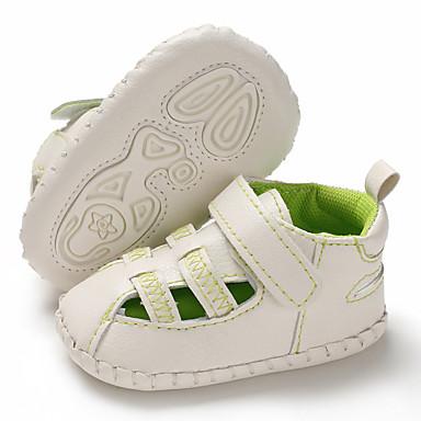 baratos Para Crianças de 0-9 Meses-Para Meninos / Para Meninas Couro Ecológico Sandálias Crianças (0-9m) / Criança (9m-4ys) Primeiros Passos Branco / Verde / Azul Verão