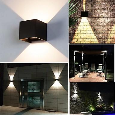 abordables Éclairage Extérieur-Lampe de mur étanche LED 10W moderne imperméable Cube Lampe d'éclairage réglable intérieur extérieur