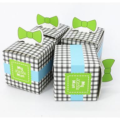 abordables Support de Cadeaux pour Invités-Rectangulaire Carton Titulaire de Faveur avec A Carreaux Boîtes à cadeaux / Sacoches à cadeaux / Boîte de rangement - 50 Pièces