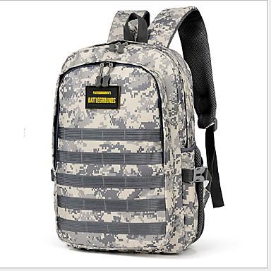 cheap Men's Bags-Large Capacity Oxford Cloth Pattern / Print / Zipper Sports & Leisure Bag Geometric Climbing Green / Gray / Yellow / Men's